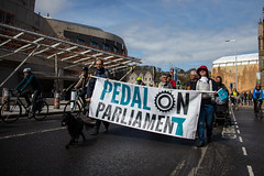 #POP2018  (138 of 230) (Philip Gillespie) Tags: pedal parliament pop pop18 pop2018 scotland edinburgh rally demonstration protest safer cycling canon 5dsr men women man woman kids children boys girls cycles bikes trikes fun feet hands heads swimming water wet urban colour red green yellow blue purple sun sky park clouds rain sunny high visibility wheels spokes police happy waving smiling road street helmets safety splash dogs people crowd group nature outdoors outside banners pool pond lake grass trees talking bike building sport