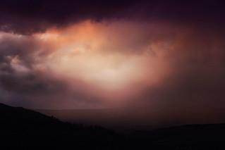 the sky over scotland