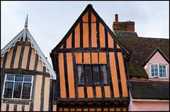 Crooked House, Lavenham (Eline Lyng) Tags: architecture house cottage medieval medievalcottage medievalhouse halftimber lavenham suffolk england greatbritain leica s 007 leicas mediumformat summarits70mm 70mm color
