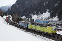 A TXL 193 558 Wolf am Brenner 19-02-2018 (peters452002) Tags: peters452002 railways railway railroad railroads rail eisenbahn etrain elok spoor spoorwegen ferrovia austria trains train trein treinen twop transportation txlogistik txl vectron jalalspagestransportationalbum lokomotive lokomotief locomotive bahn brennerbahn oostenrijk