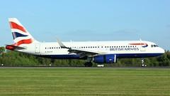 G-EUYP (AnDyMHoLdEn) Tags: britishairways a320 oneworld egcc airport manchester manchesterairport 05r