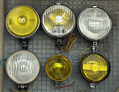 Fog Lamp Collection (berangberang) Tags: foglamp foglights fog light lamp collection lumax marchal ipf vintage car