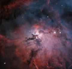 Hubble's Lagoon (geckzilla) Tags: lagoon nebula hst hubble visible narrowband starformation dust gas anniversary m8 messier8 propid15449 15449