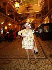Attitude! (Laurette Victoria) Tags: hotel lobby milwaukee pfisterhotel pumps dress floralprint hat purse laurette woman lady