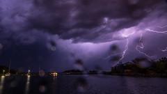 Blixten sett från fiskehamn (tonyguest) Tags: blixt blixten fiskehamn karlshamn blekinge sverige sweden lightning strikes sea boats tonyguest stockholm