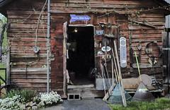 Walk-in tool box (hutchphotography2020) Tags: shed tools farmtools barn farm rural rakes nikon