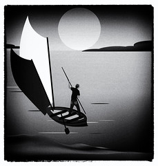 sailing (illustrationvintage) Tags: man boat boathing ship bamboo illustration vector landscape sunset sun crane seascape waterscape sunrise silence silent quiet travel sailing lonely lonelyness nature beach