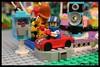 Coin Operated Mini Car Ride (EVWEB) Tags: lego brick world park amusement fairground funfair car ride minifigures suit 71021 party