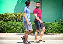 Guys on parade (LarryJay99 ) Tags: pridefest2018 2018 lakeworth florida festival parade men male man guy guys dude dudes manly virile studly stud masculine sexyman legs walking sandles flipflops barefeet barfuss faces facialhair profile handsome malecouple beard mustasch hairyarms hairylegs bulgebulgesbulging peekingnipples cuteguys