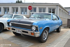 Chevrolet Nova (Monde-Auto Passion Photos) Tags: voiture vehicule auto automobile chevrolet nova coupé bleu blue sportive ancienne classique rare rareté france courtenay rassemblement evenement