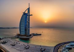 MJL20180422-222034DSCF5155-Pano-Edit-Edit (Mark Lehmkuhler) Tags: dubai burjalarab burj sunset sunsets uae jumeirah jumeirahbeach luxury hotel persiangulf