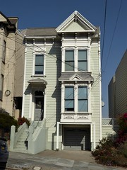San Francisco, Noe Valley, Victorian Residence (Mary Warren 13.5+ Million Views) Tags: sanfranciscoca noevalley architecture building house residence urban victorian stairs garage bowwindow