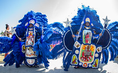 Mardi Gras Indians at the New Orleans Jazz and Heritage Festival on Sunday, April 29, 2018
