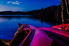 Inviting you to a trip (evakongshavn) Tags: kayak trip lake lakescape lakes water waterscape blue light red boat tree sky wood forest