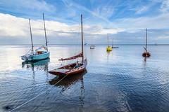 Secured for the Night - Cedar Key, FL (ChuckPalmer {cepalm}) Tags: cedarkey gulfofmexico sailboat travel boat clouds florida water chuckpalmer