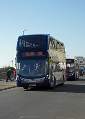 STAGECOACH SOUTH 10708 - SN66VVW - PELHAM PLACE HASTINGS - SAT 17TH FEB 2018 (Bexleybus) Tags: hastings east sussex stagecoach south adl dennis enviro 400 mmc 10708 sn66vvw pelham place