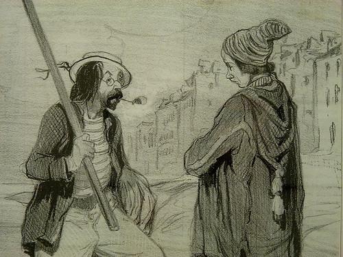 DAUMIER Honoré,1843 - Préparation du Voyage (Maison de Balzac) - Detail 10