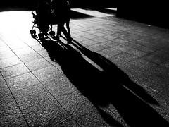 city of shadows.... (Eggii) Tags: city shadows light blackandwhite bw people street