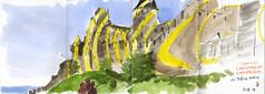 180421carcassonne04 (Vincent Desplanche) Tags: carcassonne sketch sketchbook sketchcrawl sketching seawhiteofbrighton seawhitesketchbook carandache neocolor neocolorii neocolor2 aude croquis aquarelle urbansketchers uskfrance felicevarini citedecaracassonne