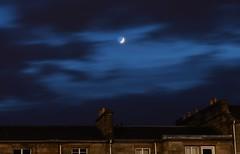 Macabre Moon (Alexis Kaylen) Tags: alexis kaylen photography landscape cityscape light trails long exposure shutter speed traffic glasgow scotland charing cross