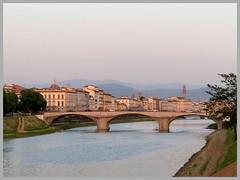 Alla luce del tramonto (Domenico T) Tags: water cityscape landscape bridge arno river