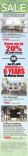 Outdoor Furniture Sale Financing or 20% Off for Cash