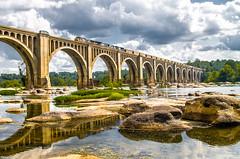 North bound over the James (i nikon) Tags: csx yn2 james river bridge a line richmond va