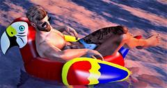 Lazing (Toby ~) Tags: secondlife beach relax speedo