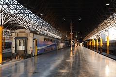 Teheran hoofdstation (peter.velthoen) Tags: rai iran tehran station light rollingstock platform trein dubbeldekker perron perronkap vloer tegels gladdevloer weerspiegeling reflexie hoofdstad miljoenenstad 4treinenperuur 35°42′nb51°25′ol 13miljoeninwoners train ceiling