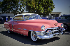 8th Annual Serra H.S. Car Show (JCD Images) Tags: serrahighschool 8thannual carshow gardena california usa cadillac chevy ford mercury mg oldsmobile autos automobile classiccars hotrods musclecars streetrods street chrome rims custompaint custom kustom 1953 pink coupedeville