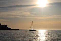 Barca a vela (giovanni_vaccaro) Tags: trieste friuli friuliveneziagiulia mare boat sea onde porto sun sunset tramonto light luci atmosfera freedom love canon canon1300d canon55250 italia italy