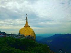 #GoldenRock#Myanmar (khinmyatnoethue) Tags: myanmar golden landscape sky forest pagoda