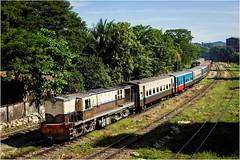 YDM4 at Yangon (Trains In Tasmania) Tags: myanmar yangon ydm4 alco diesellocomotive myanmarrailways mixedtrain passengertrain ef35350mm13556lusm canoneos550d stevebromley train