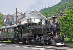 BFD 2-6-0RT bringing up the rear at Blonay (TrainsandTravel) Tags: switzerland schweiz suisse narrowgauge voieetroite schmalspurbahn steamtrains trainsàvapeur dampfzüge blonaychamby vevey