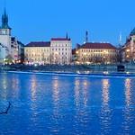 Vltava River from Kampa, Prague, Czech Republic thumbnail