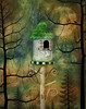 Bedtime Story (David DeCamp) Tags: birdhouse whimsy textured topaztexture2 distressedtextures