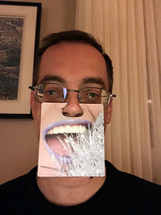 Daryl Face Coaster 1 (daryl_mitchell) Tags: winter saskatchewan canada 2017 xmas regina me funny coaster