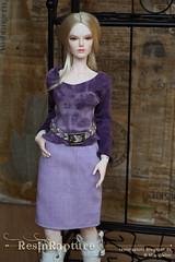 Queenie Legrand (ResinRapture) Tags: raccoondoll raccoon raccoonrosie fashion dolldress dollclothes