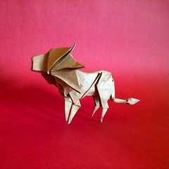 Lion Leone - SakuSaku (Stefano Borroni (Stia)) Tags: origami cdoitalia origamiart animals animali natura origamilove papiroflexia folding paper carta piegarelacarta saku lion leone arte leâo lejon löwe