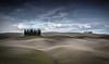 Dry Land (Fernando Piçarra) Tags: cypress cypressies tuscany toscana val dorcia italy italia land meadow orcia san quirico hill clouds sky trees shadows crete sinesi