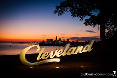 "Monday's JBP Photo of the Day! ""Cleveland Sign during Sunrise at Edgewater Park II"" (JoeBoyle) Tags: jbpphotooftheday jbp interiordesign commercialdesign commercialart cleveland sign edgewater park icon iconic cle happyincle logo landmark beauty sunrise lake erie twilightcommercialprint artwork commercialinteriors commercialphotographer commercialphotography"