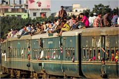 It's a Busy Place (Trains In Tasmania) Tags: bangladesh dhaka train rollingstock people roofriders passengertrain carriges trainsintasmania stevebromley ef35350mm13556lusm