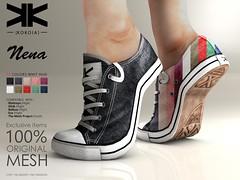 Nena :: Woman Sneakers :: 10 Colors ({kokoia}) Tags: nena kokoia sneakers shoes heel shoe avatar sport maitreya slink belleza high tennis fashion casual tenis secondlife 3d mesh