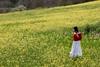 Sara in Val d'Orcia (Siena) (Maria Cappelli) Tags: sara modella tuscany toscana siena valle collina hill valley italy italia giallo yellow fiori campo rosso portrait ritratto