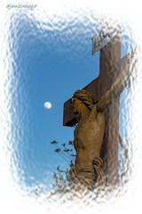 Il regarda la création... (jamesreed68) Tags: calvaire croix statue hartmannswiller alsace grandest lune hautrhin france