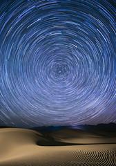 Dunes and Startrails (Vladimir Vozdvizhenskiy) Tags: california us usa travel deathvalley deathvalleynationalpark mesquiteflatsanddunes dunes desert night stars startrails landscape