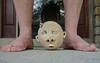 Ceramic Head with Ugly Feet (ricko) Tags: head ceramic folkart feet ugly legs 125365 2018