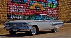 White Way Auto Tour (Tim @ Photovisions) Tags: chevy kansas highway barneskansas auto tour vintage white whiteway