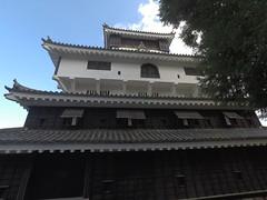 Castle west _orig_LG (Hazbones) Tags: iwakuni yamaguchi yokoyama castle kikkawa suo chugoku mori honmaru ninomaru demaru wall armor samurai spear teppo gun matchlock map ropeway