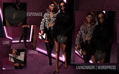 #1 - Thrive in Darkness (LEAUX M. | LivingInNOIR) Tags: livinginnoir little bones uma thrive city girl frames citygirl luxe purse glasses hair crocskin crocodile skin necklace clockhaus anabelle choker jacket txy paneled puffer coat skirt gato punk maitreya uber shoes heels thighhigh boots thigh high doux seyfried 7 decade multi seul neoshades neo gacha espionage love bag sable chevron jumper set jourda rih flare rowne jai classic pumps gift sl slblogger second life blogger review fashion slfashionblog